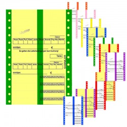 Hydrofixendloskarten mit Designstreifen