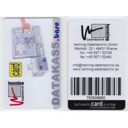 Wertkarte für datakassCARDsystem, Barcodekarte